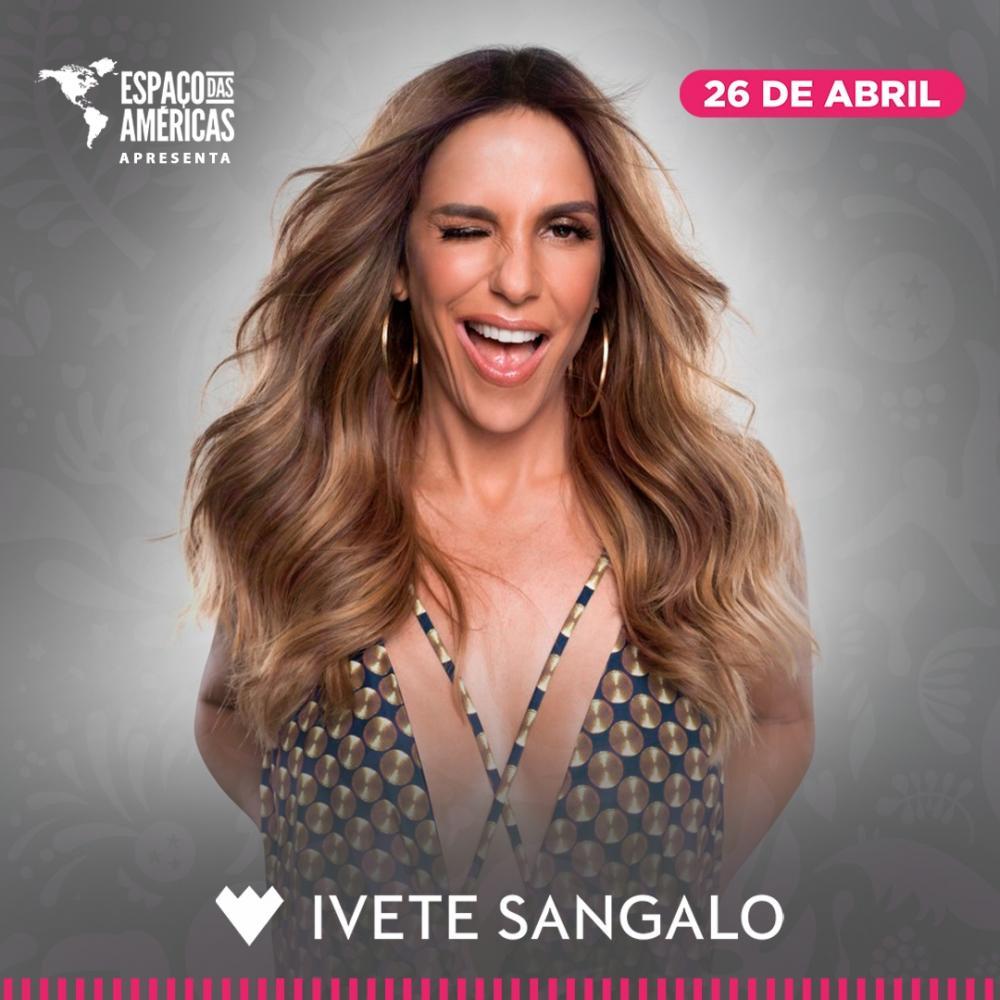 Ivete Sangalo se apresentará nos espaço das americas