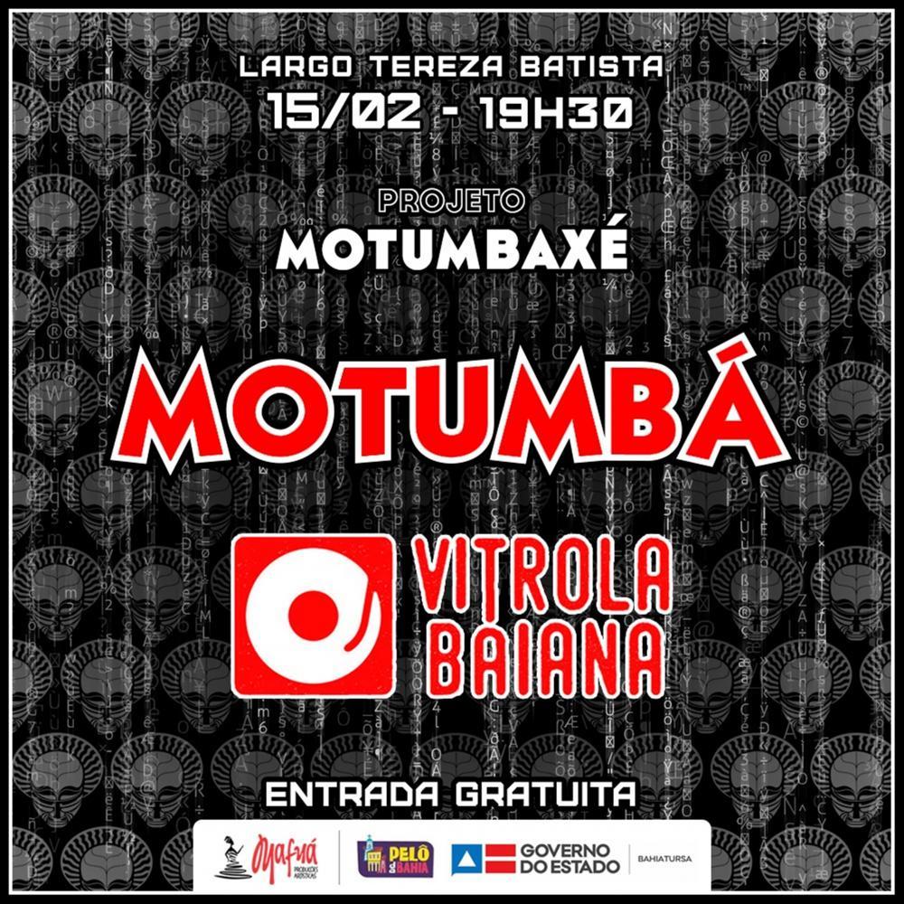 Motumbá faz pré-Carnaval aberto ao público no Pelourinho neste sábado (15)
