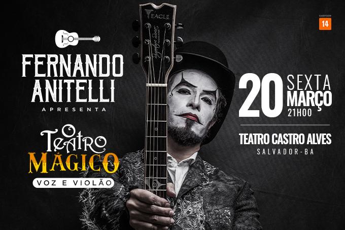 Fernando Anitelli apresenta O Teatro Mágico Voz e Violão em Salvador