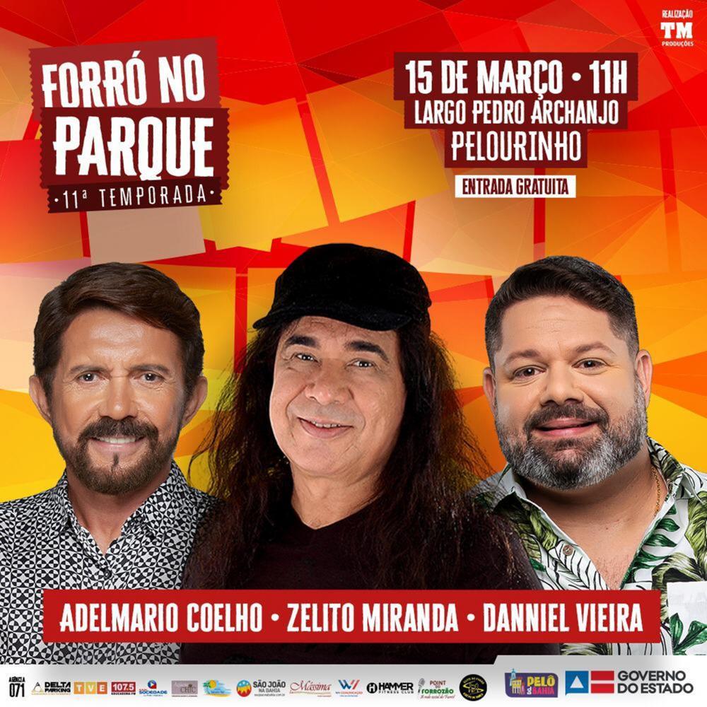Danniel Vieira estará com Zelito Miranda e Adelmario Coelho no Forró no Parque