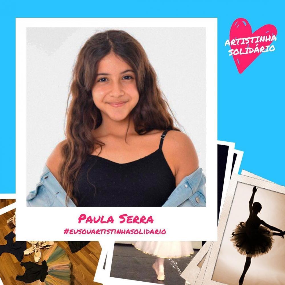 Paula Serra participa do projeto Artistinha Solidário