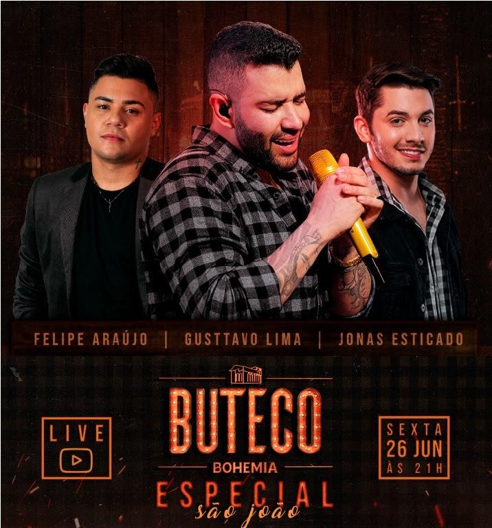 """Gusttavo Lima faz live """"Buteco Especial São João"""""""