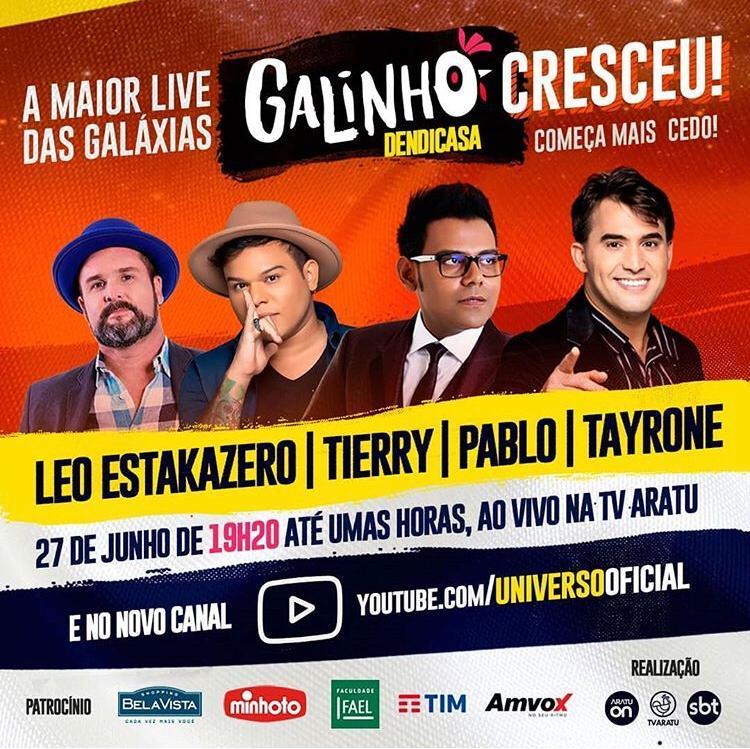 TAYRONE, PABLO, TIERRY E ESTAKAZERO O GALINHO DENDICASA A MAIOR LIVE DAS GALÁXIAS