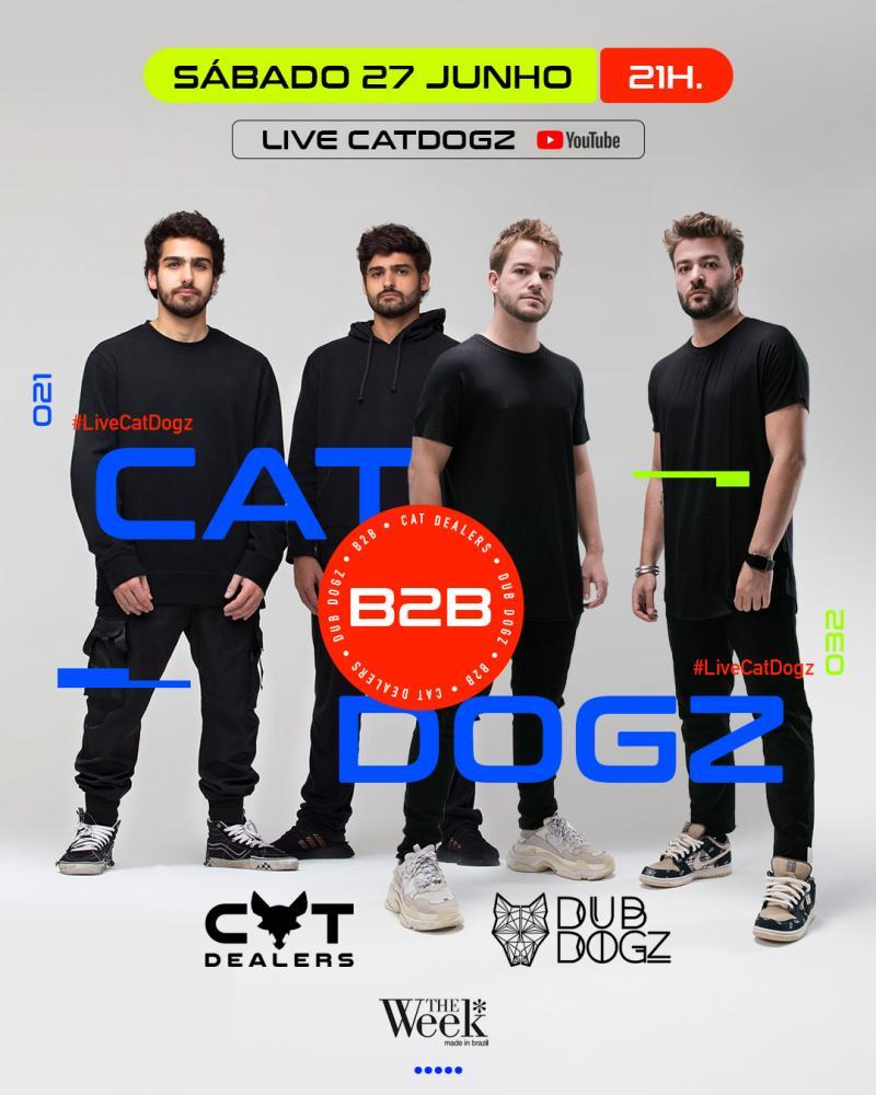 Cat Dealers e Dubdogz realizam live neste sábado (27)