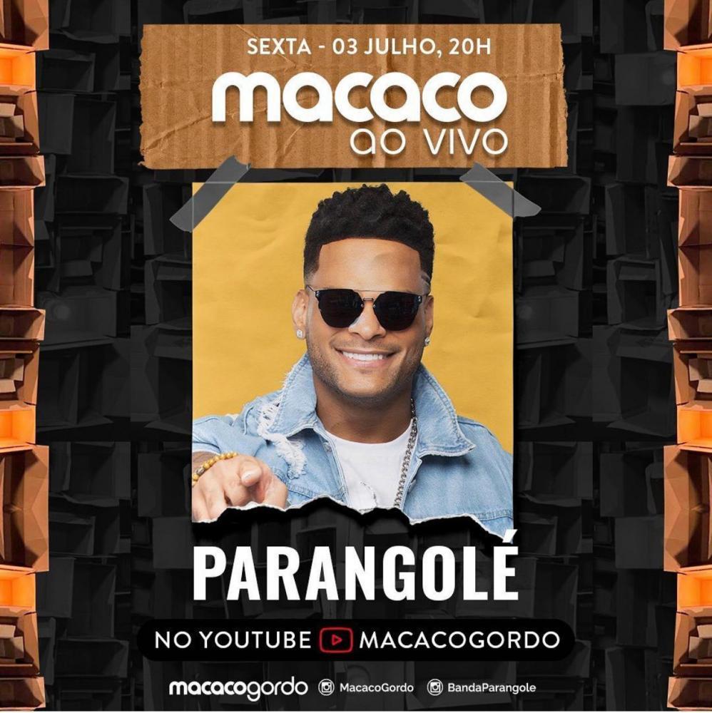PARANGOLÉ SE APRESENTA NO MACACO AO VIVO DIA 3 DE JULHO 20h
