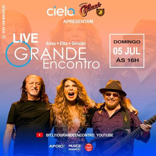 Alceu Valença, Elba Ramalho e Geraldo Azevedo anunciam a live